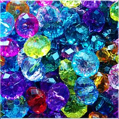 Kinder-Perlenset 20 schöne fancy faceted Perlenmix 12 mm