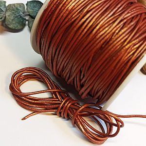 1 m Lederschnur Lederband 1,5 mm kupfer Lederschnüre