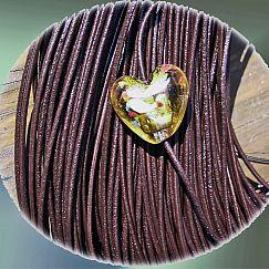 1 m Lederschnur Lederband 1,5 mm dklbraun Lederschnüre