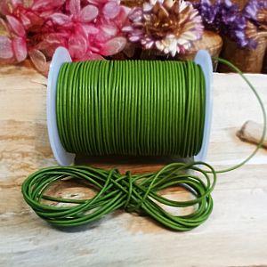 1 m Lederschnur Lederband 1 mm moosgrün Lederschnüre