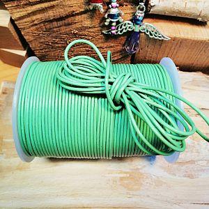 1 m Lederschnur Lederband 2 mm minze grün Lederschnüre