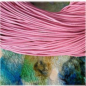 1 m Lederschnur Lederband 1 mm rosa Lederschnüre