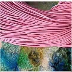 1 m Lederschnur Lederband 2 mm rosa Lederschnüre