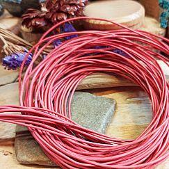 1 m Lederschnur Lederband 1 mm rosè rosa Lederschnüre