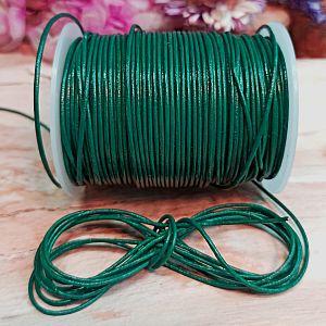 1 m Lederschnur Lederband 1 mm smaragdgrün Lederschnüre