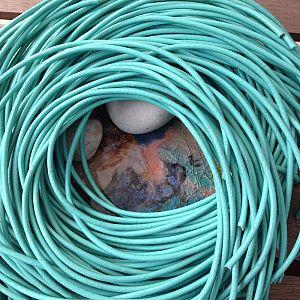 1 m Lederschnur Lederband 3 mm türkis grün hell