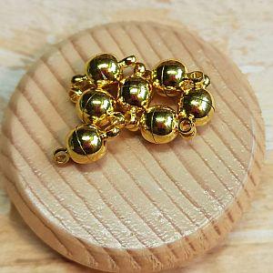 2 Magnetverschlüsse rund 11 mm gold