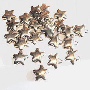10 Metallspacer Sterne silber antik 12 mm