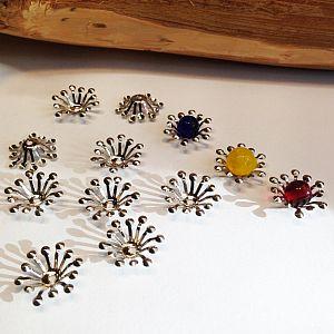 10 große Metall Perlenkappen 15 mm für Engelanhänger
