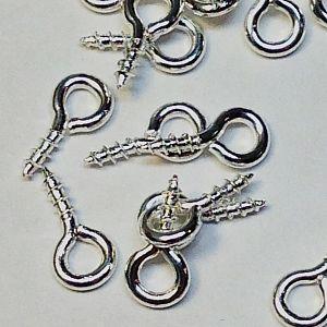 20 kleine Schrauben für Schmuck u.a. silber 8 mm