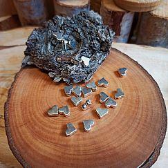 10 Metallperlen Spacer Herzen antik silber 6 mm
