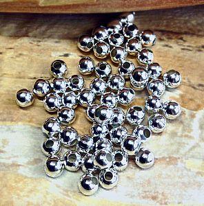 Set mit 20 Perlen Metallspacer 10 mm silber antik