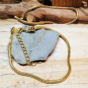 1 Modularmband 23 cm Schlangenkette mit Verschluss gold 3 mm