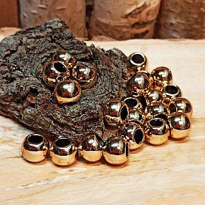 10 Modulperlen Großlochperlen goldfarben CCb 10 x 8 mm Loch 5 mm