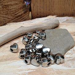 20 Modulperlen Herzen acryl Großlochperlen silber 10 mm Loch 4 mm