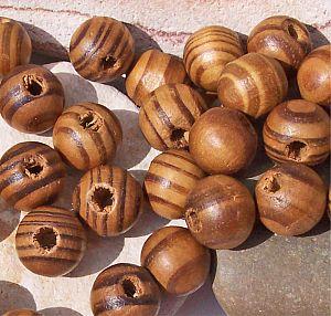 gemaserte Natur Holz Perlen