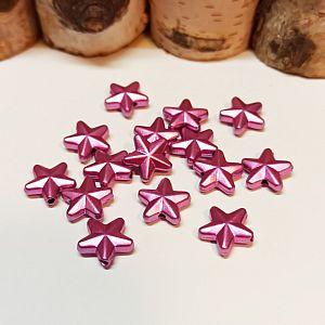 10 Kunststoffperlen 11 mm Sterne rosa Kinderperlen
