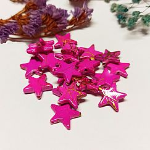 10 Kunststoffperlen 16 mm Sterne rosa draw bench
