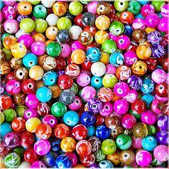 Perlenset 20 Rainbow Perlen 10 mm Kinderperlen fädeln