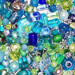 PerlenSet 100 Mix Perlenmischung Aquarell 6 - 30 mm