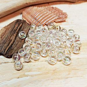 40 fancy Perlen transparent irisierend 6 mm