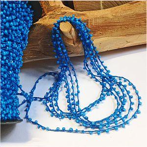 2 Meter Perlenfaden mit Rocaillesperlen mittel blau 2 mm