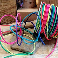 1 m elastische Perlschnur Bastelschnur 1 mm Neonfarben