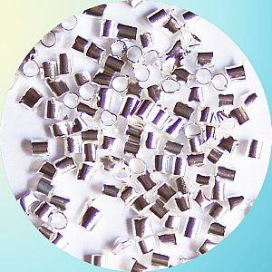 5 g Quetschperlen Metall silberfarbig 2 x 2 mm