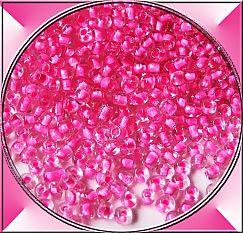 20 g Glasperlen Rocailles pink 3-4 mm Perlenset
