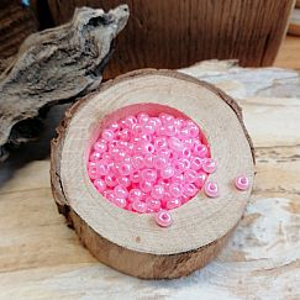 20 g Glasperlen Rocailles rosa opak 3-4 mm Perlenset