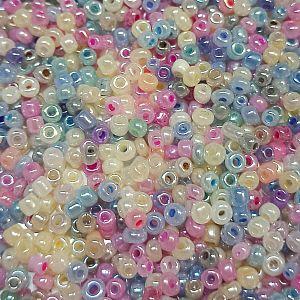 20 g Rocailles in Pastellfarben Mix 2,5 mm