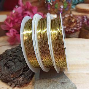 1 Rolle Schmuckdraht in gold 15 m 0,5 mm Perldraht