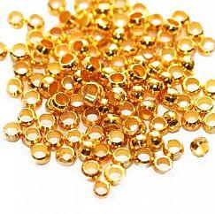 5 g Quetschperlen Rondell goldfarbig 2 mm