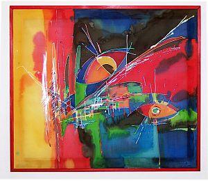 Seidenmalerei abstrakt Nachdenklich