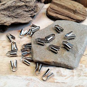 5 Endhülsen zum befestigen von Fädelmaterial 1 mm