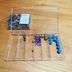 Perlen Sortierbox Acryl Rechteck 15 x 8 x 2 cm transparent
