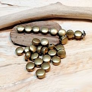 20 Metallperlen Metallspacer 6 mm bronze antik