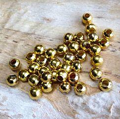 20 Metallperlen Metallspacer 6 mm gold