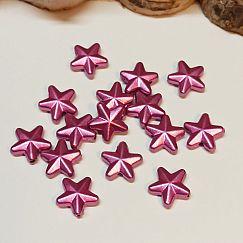 30 schöne Siliconperlen 9 mm Sterne Mix Kinderperlen bunt