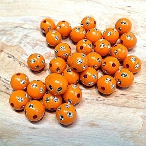 30 Strasskugeln orange Kunststoff 10 mm