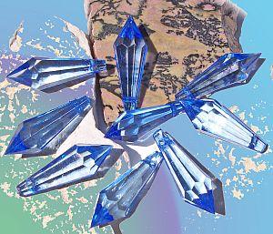 10 schöne große Teardrop Perlenset 30 mm Tropfen blau