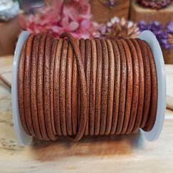 1 m Vintage Lederschnur Lederband 3 mm Sattelbraun Lederschnüre