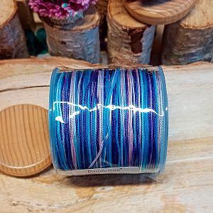 10 m Perlschnur 0,5 mm Farbverlauf blautönig abgemetert