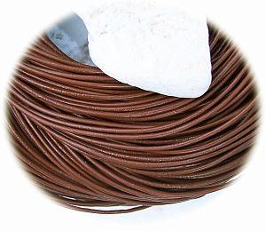 1 m Lederschnur Lederband 1,5 mm braun Lederschnüre