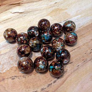 10 schöne große Draw Bench Perlen 14 mm braun