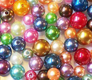 Perlenset 40 Rainbow Perlen 6 -10 mm Kinderperlen