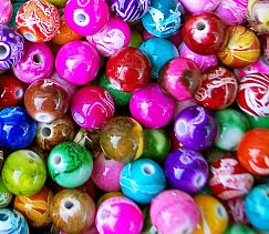 Perlenset 30 Rainbow Perlen 10 mm Kinderperlen fädeln