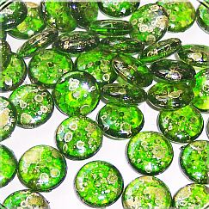 Perlenset 20 schöne fancy Acryl Kinder Perlen grün 11 mm