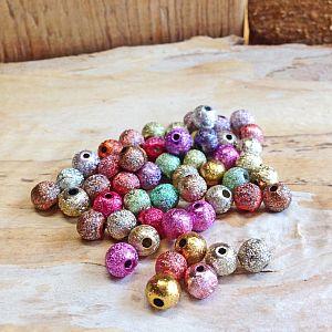 Perlenset 50 schöne Stardust Perlen Spacer bunter Mix 4 mm