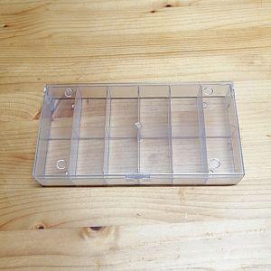 Perlen Sortierbox Acryl Rechteck 19,5 x 10 x 3 cm semitransparent